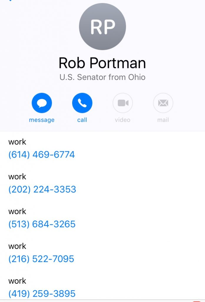 Rob Portman Numbers